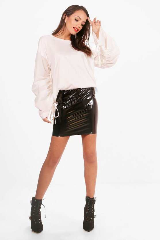 Holly Ruched Sleeve Oversized Top