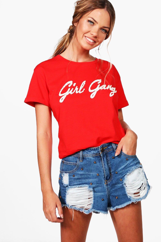 Boohoo-Camiseta-Con-Adorno-De-Perlas-Y-Eslogan-