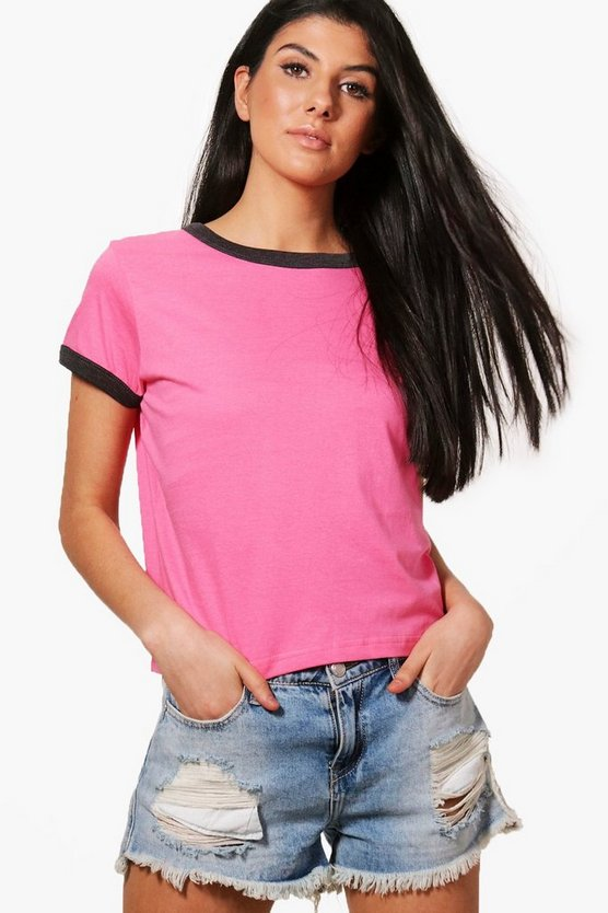 Heather Contrast Ringer T-Shirt