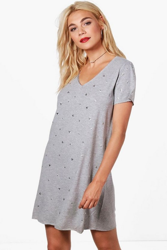 Star Studded T-Shirt Dress