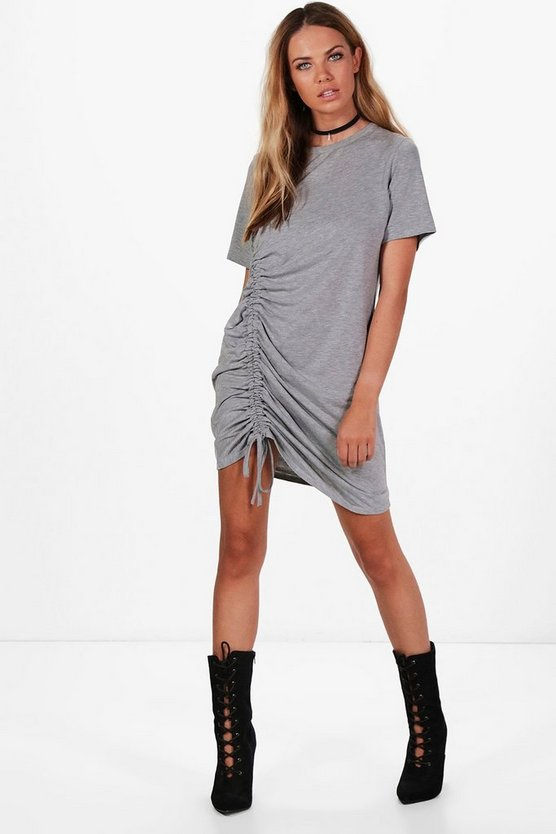 Beth Ruched Side T-Shirt Dress