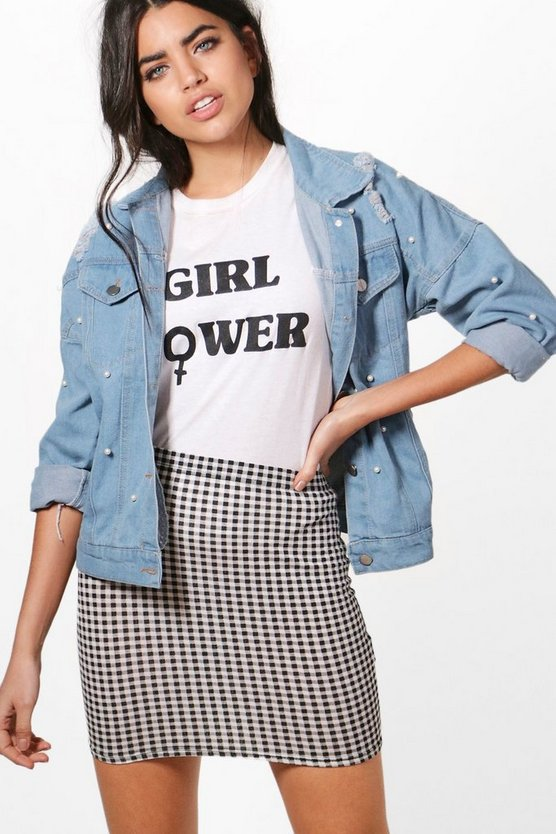 Polly Pearl Oversized Denim Jacket