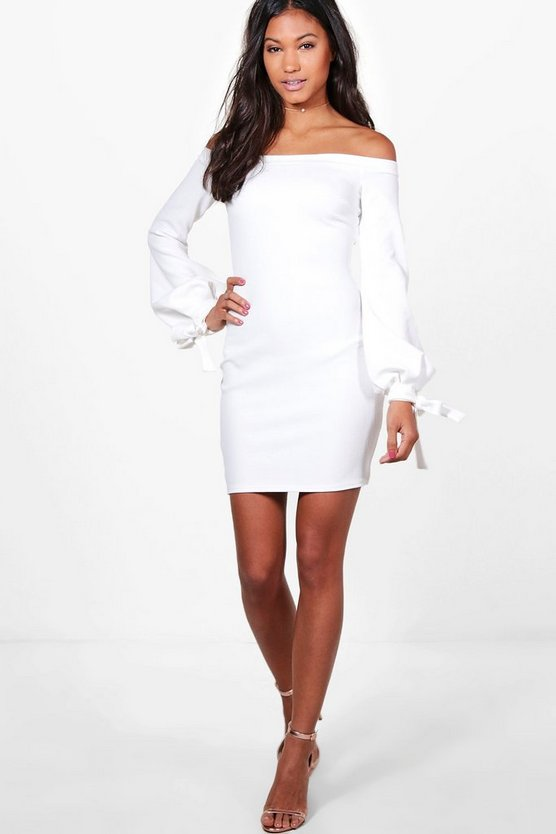 Off Shoulder with Cuff Bodycon Dress