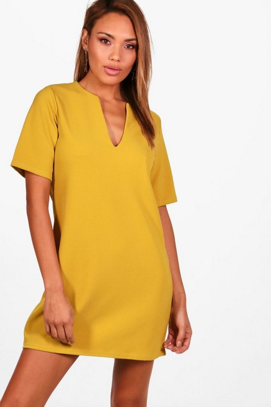 Formal Boxy Clean Cut Shift Dress