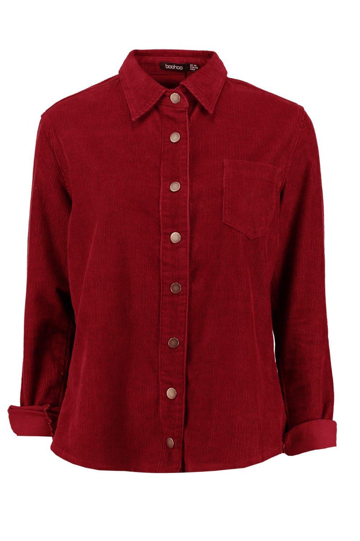 Oversized Shirt Oversized Cord burgundy burgundy Oversized Shirt Cord Oversized Cord burgundy Shirt rwAqRr