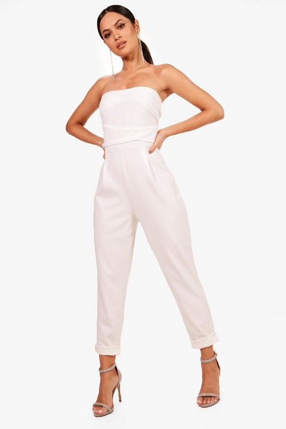 Bandeau Tailored Woven Slim Fit Jumpsuit