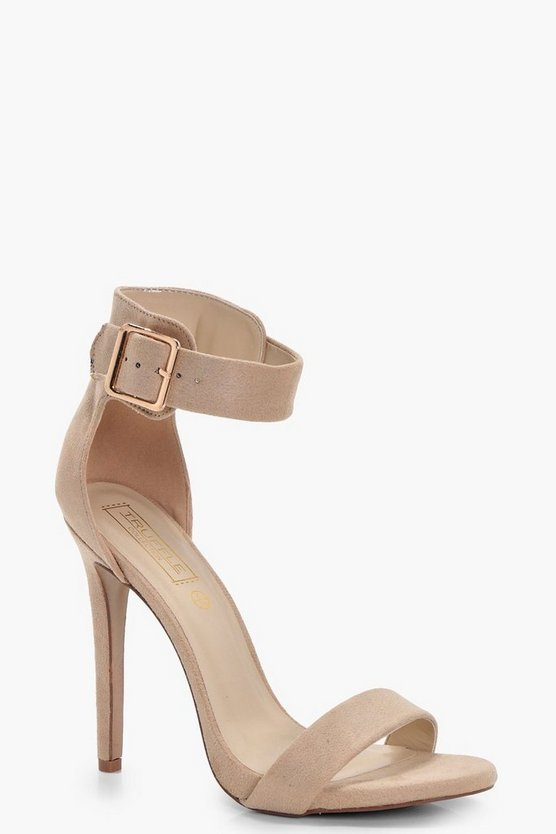 Nude 2 Parts Heel With Buckle Detail