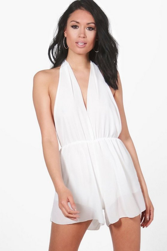 Chiffon Halter Neck Playsuit