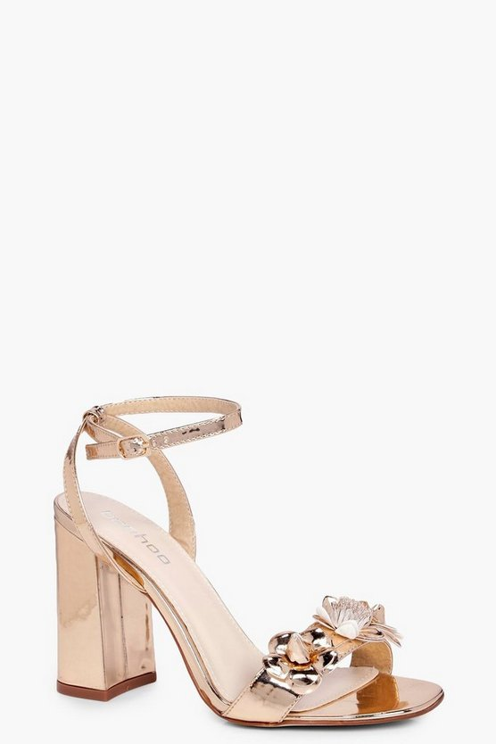 Lillie Flower Embellishment 2 Part Heels