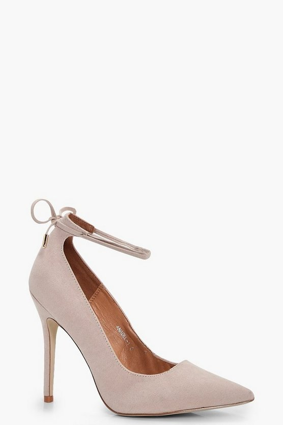 Tilly Ankle Tie Court Stiletto
