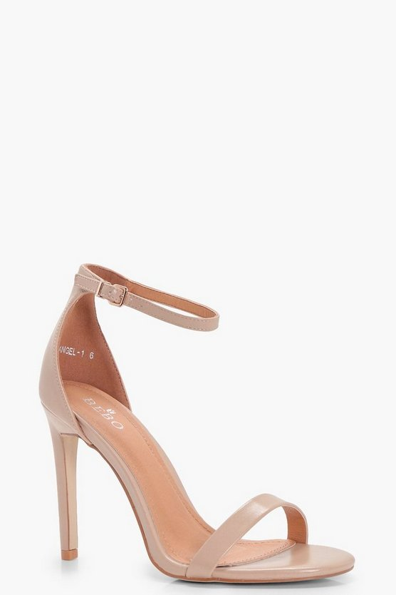 Womens Nude Two Part Heels