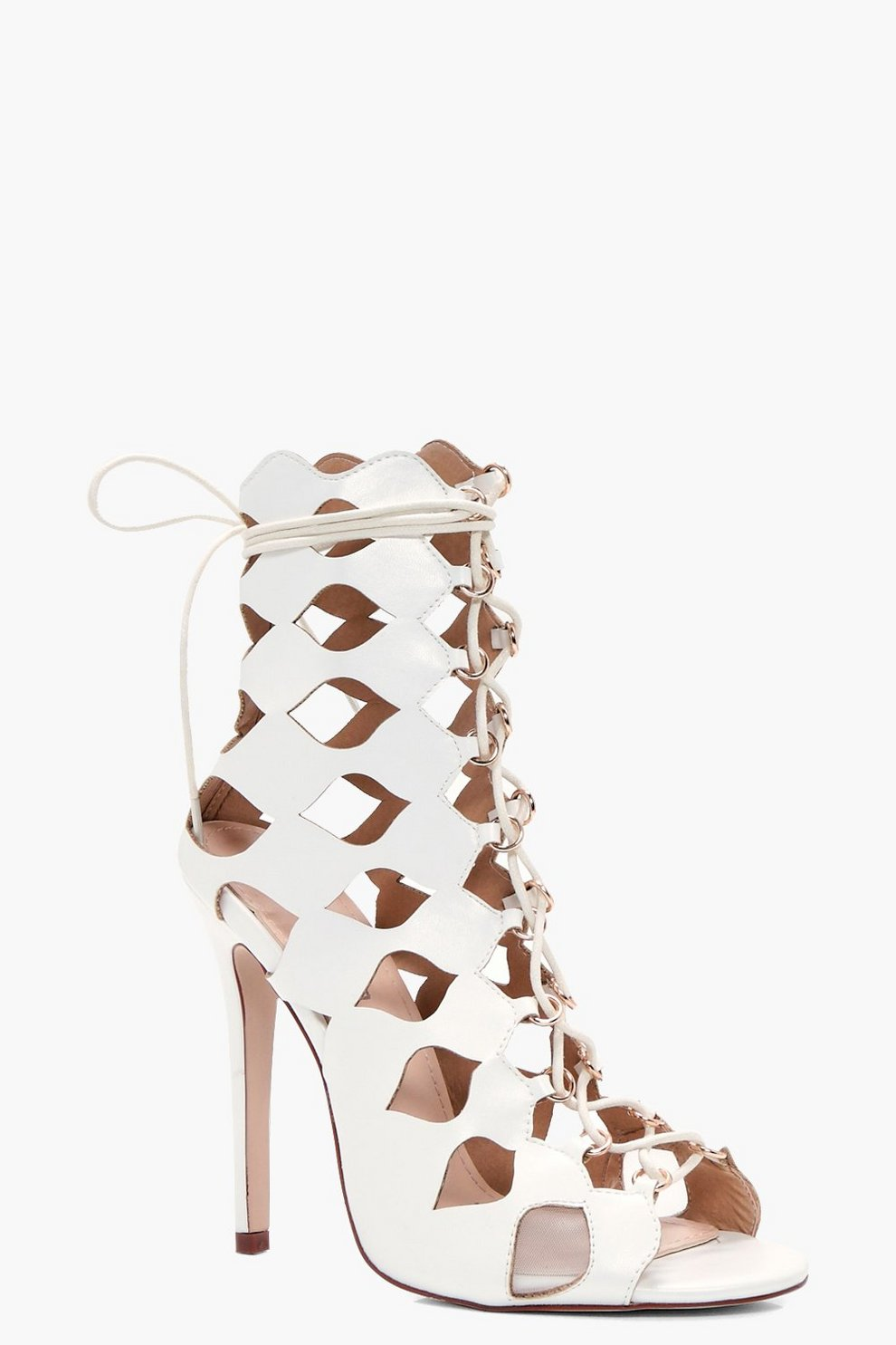 342133b6c667b Alisha Cage Ghillie Lace Up Heels | Boohoo