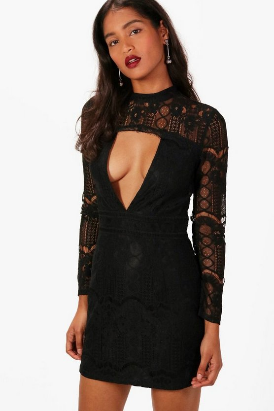 Boutque Premium Lace Bodycon Dress