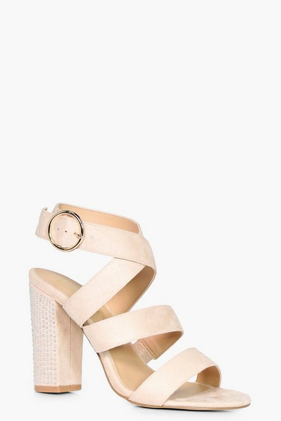 Niamh Strappy Sandal With Embellished Heel
