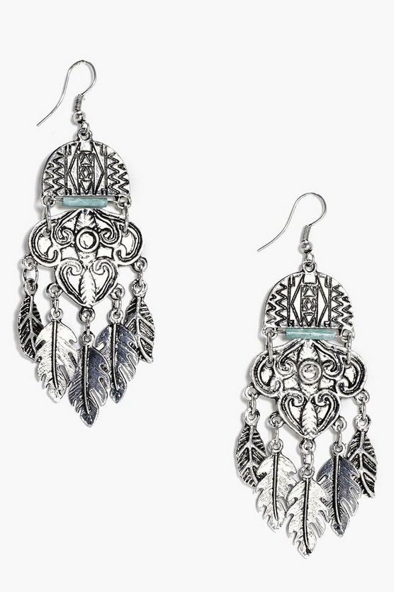 Ellie Statement Boho Leaf Earrings