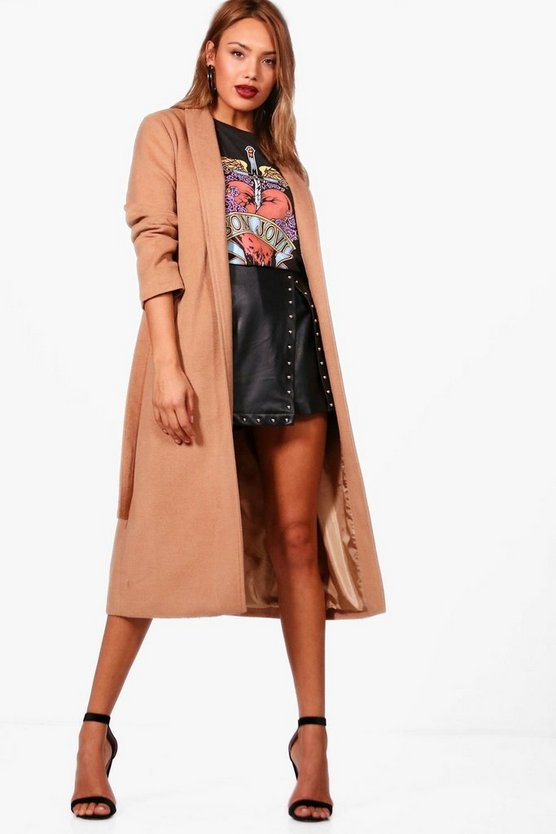 Belted Wrap Maxi Robe Coat