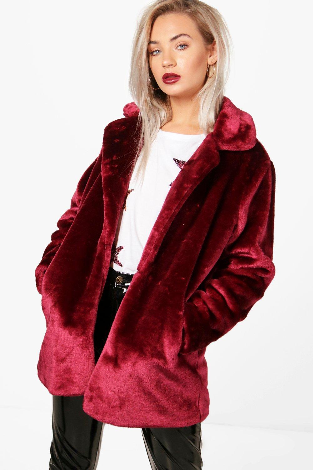 60% cheap where to buy unequal in performance Holly Collared Faux Fur Coat