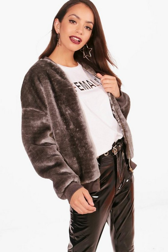 Erin Faux Fur Bomber Jacket