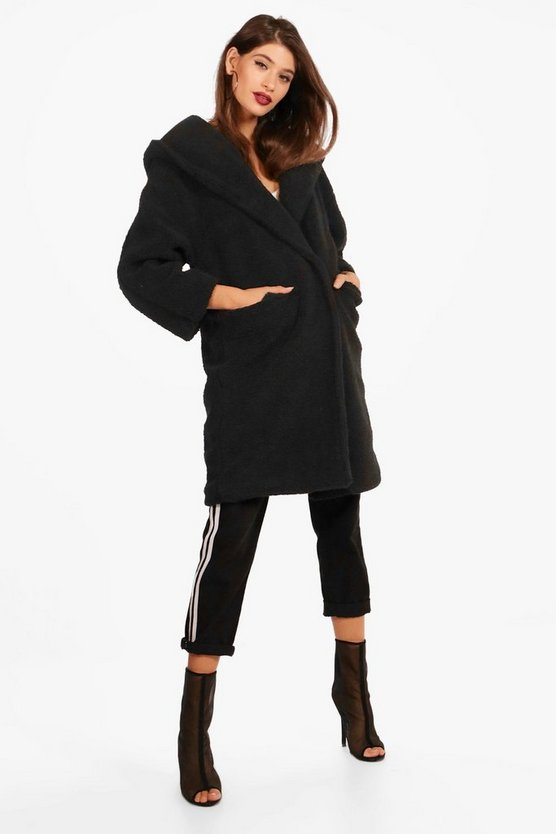 Louise Oversized Hooded Teddy Coat