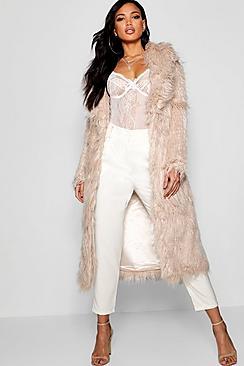 Vintage Coats & Jackets | Retro Coats and Jackets Maria Boutique Mongolian Maxi Faux Fur Coat $150.00 AT vintagedancer.com