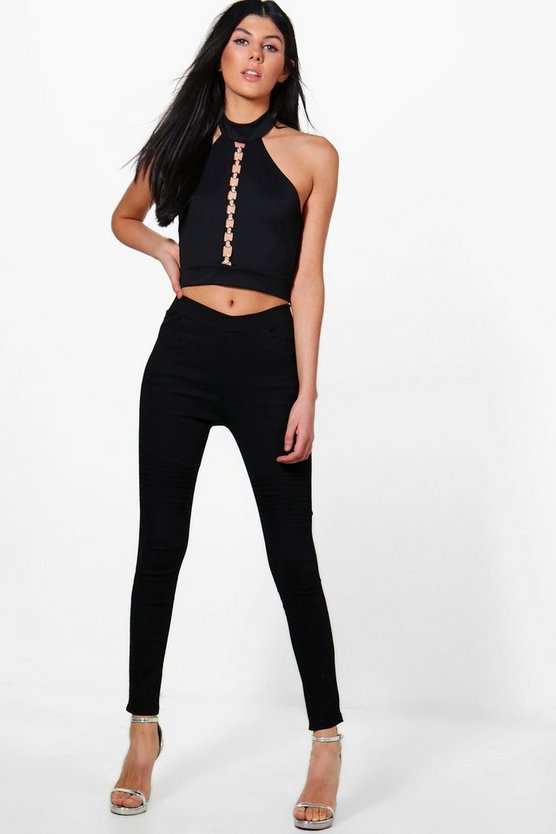 Elvia Stretch Biker Detail Leggings