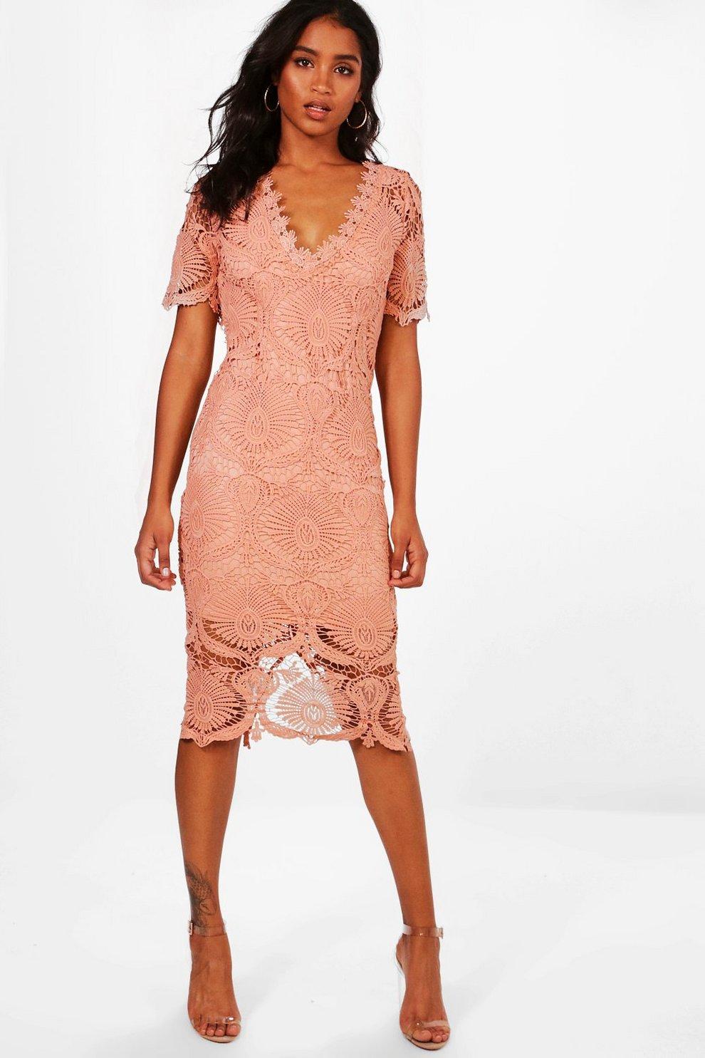 13789744d087 Womens Blush Boutique Lace Cap Sleeve Midi Dress