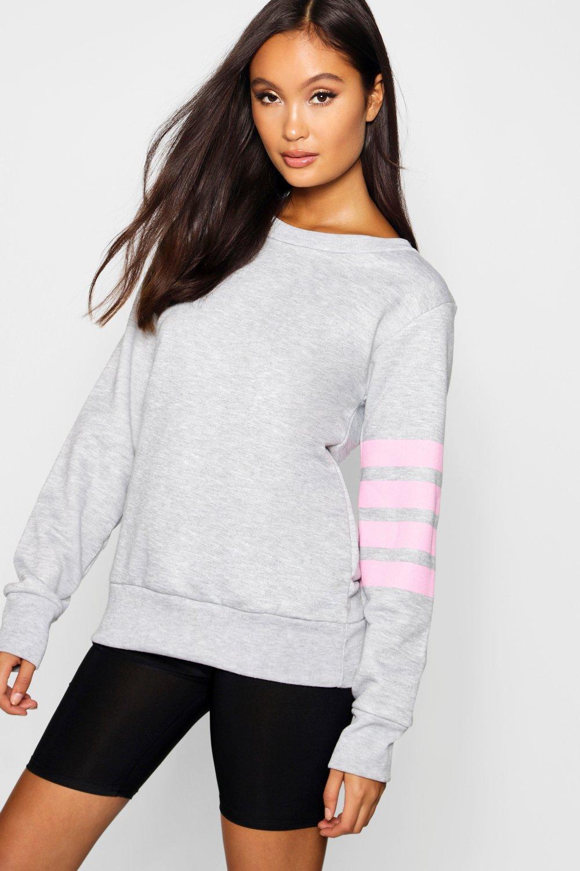 correr de estilo grey Top suéter fit qRtgxWBp