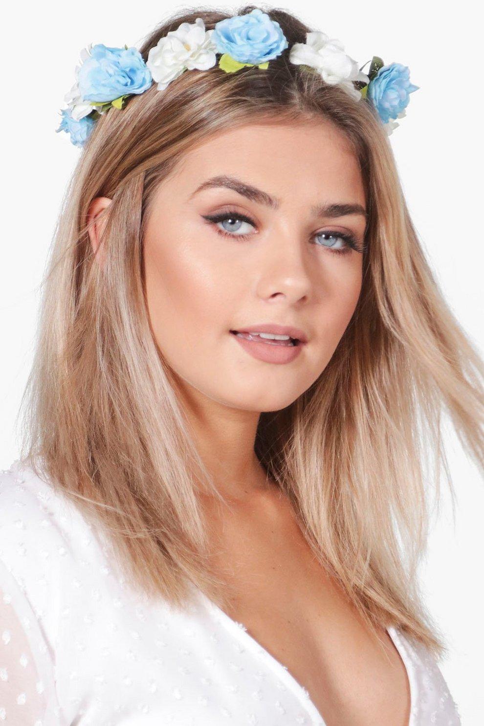 c828169ba81 Harriet Floral Hair Crown. Womens Blue Harriet Floral Hair Crown. Hover to  zoom
