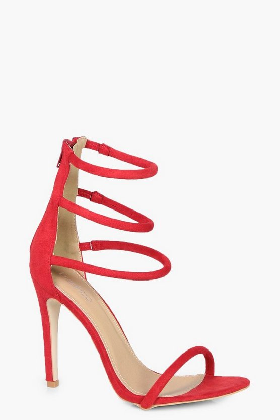 Womens Red Ivy 3 Band Heels