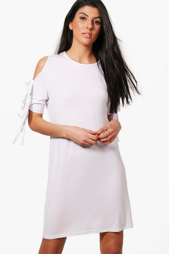 Amelia Tie Sleeve T-Shirt Dress