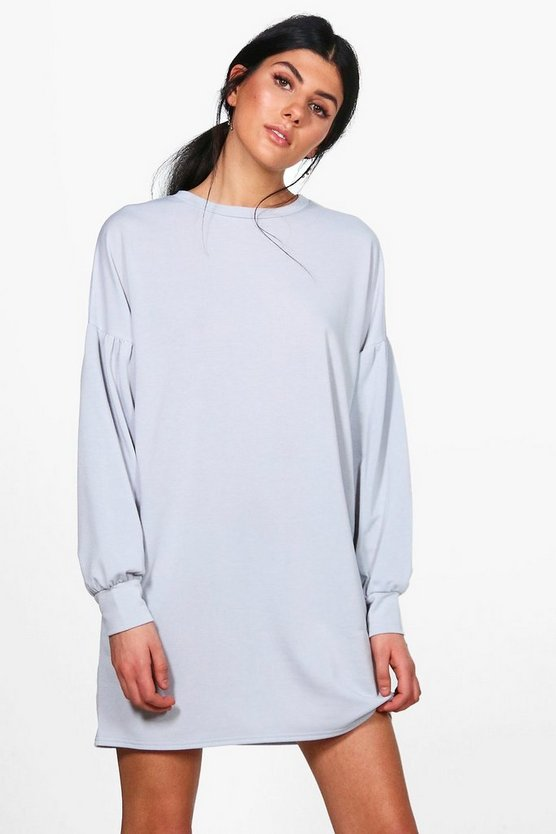 Dora Balloon Sleeve Sweat Dress