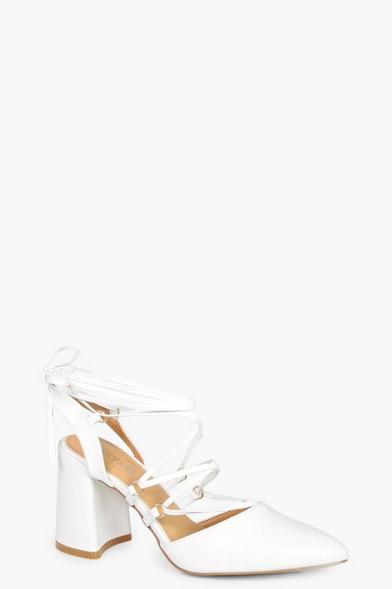 Sarah Wrap Up Sling Back Court Shoe
