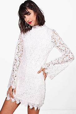 1960s Inspired Fashion: Recreate the Look Boutique Alia Corded Lace Bodycon Dress $60.00 AT vintagedancer.com
