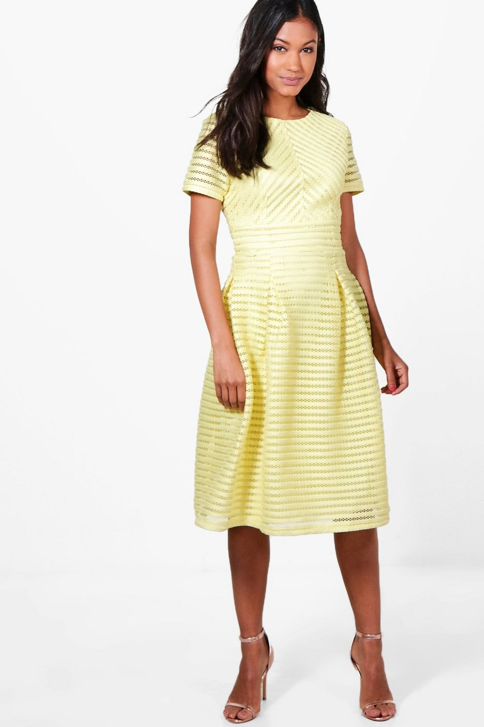 1a605ab30d Boutique Frill Skirted Prom Midi Dress | Boohoo