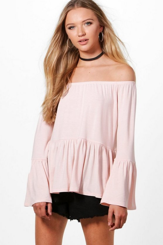 Verity Flare Sleeve Peplum Top
