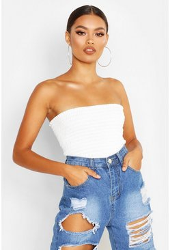Dam Ivory Shirred Bandeau