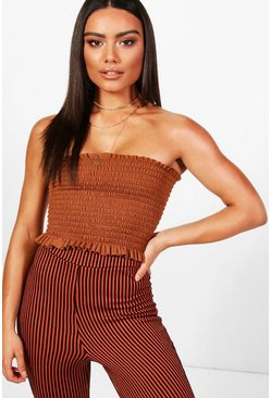 Toffee Shirred Bandeau