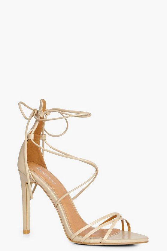 Laura Wrap Up Stiletto Heels
