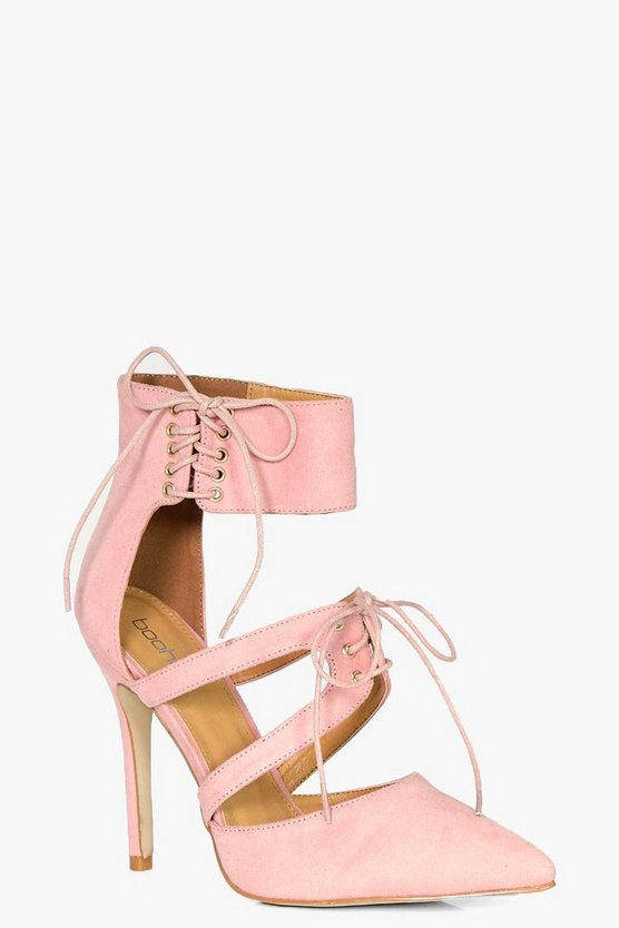 Ankle Detail Wrap Up Court Shoes