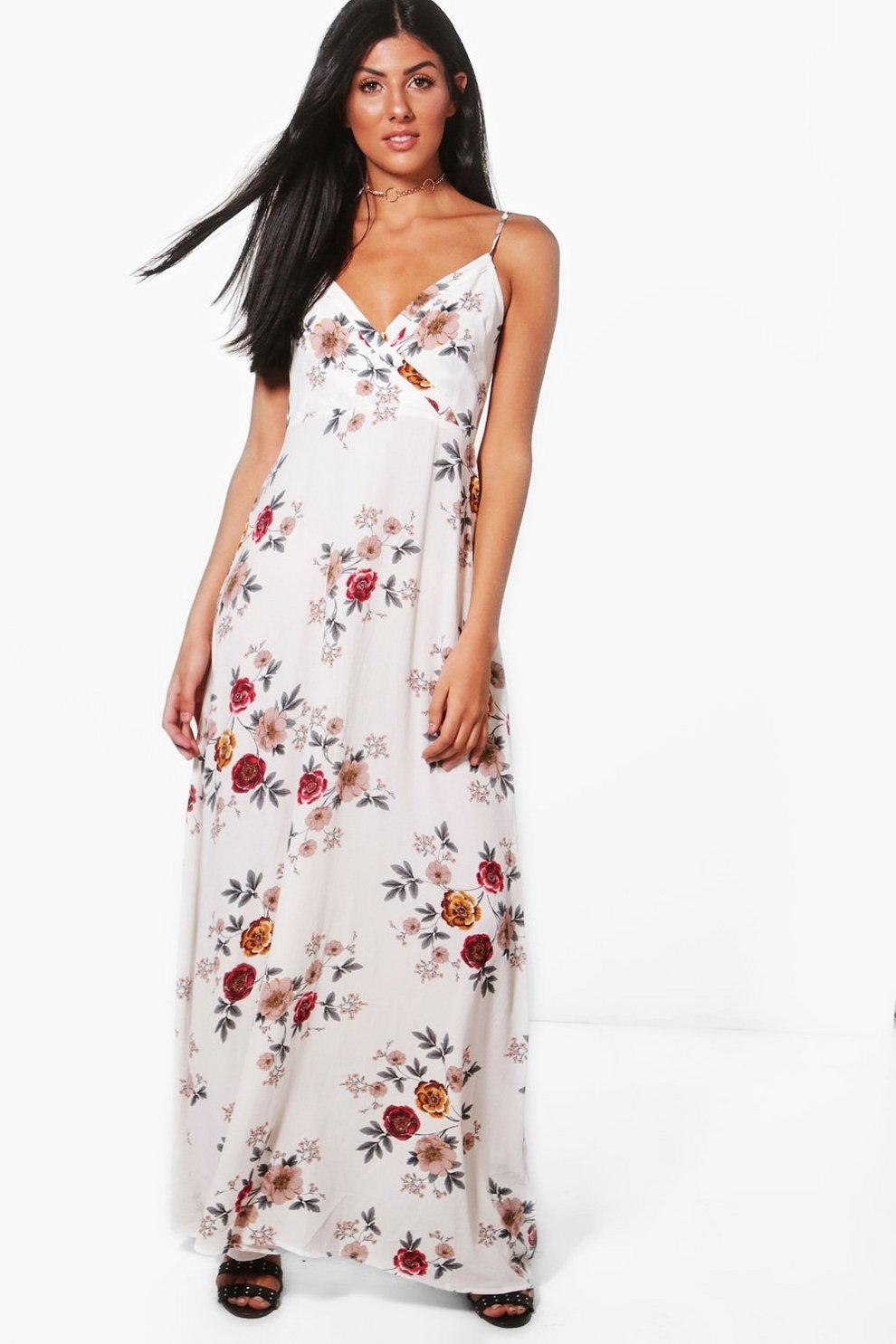 fa08b576ca9 Charlotte Floral Wrap Front Maxi Dress