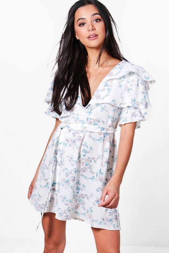 Floral Ruffle Tiered Tea Dress