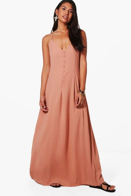 Lola Button Through Maxi Dress