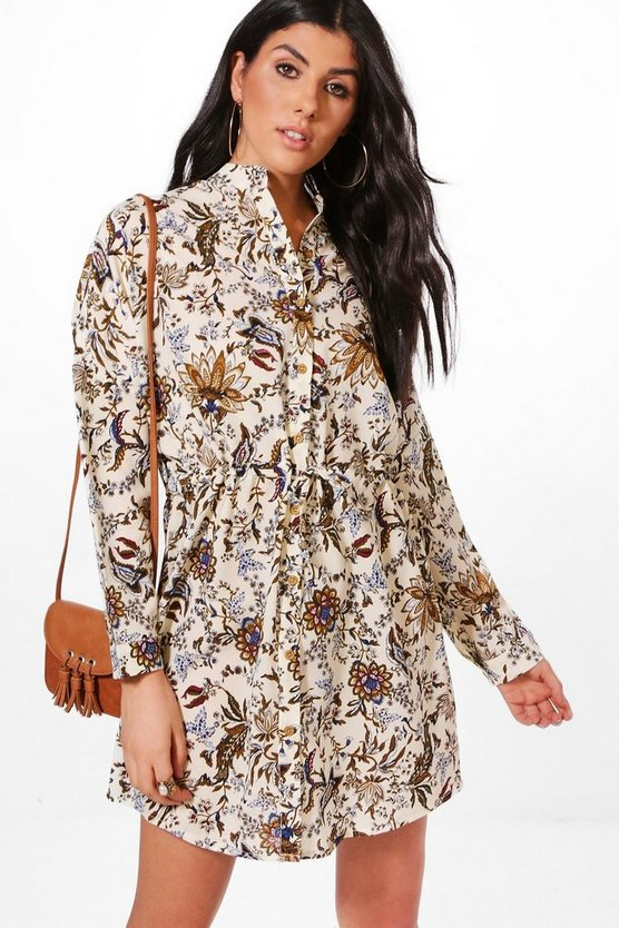 Indi Paisley Shirt Dress