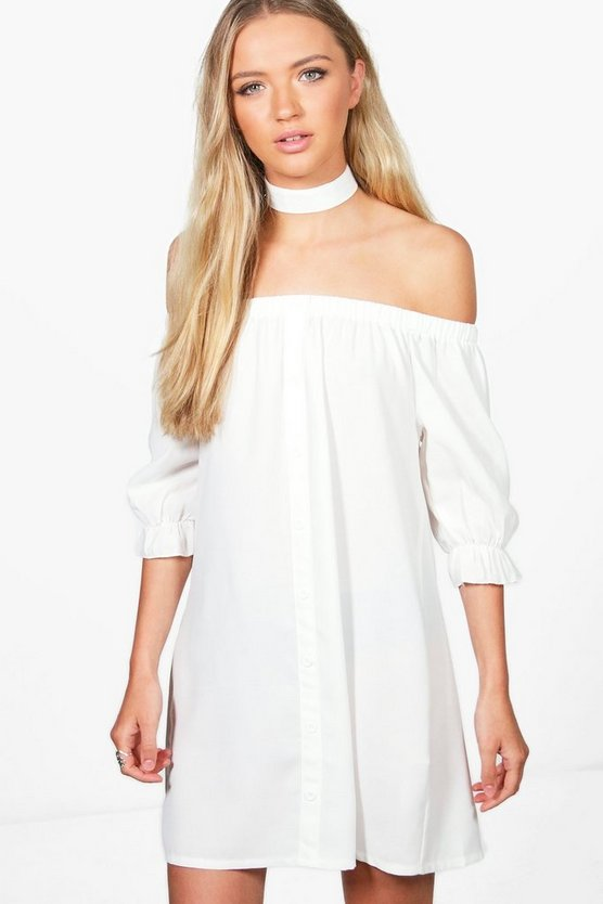 Juliette Off Shoulder Choker Dress