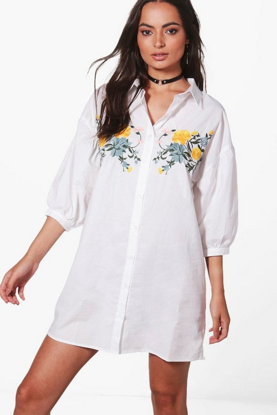 Charlotte Embroidered Shirt Dress