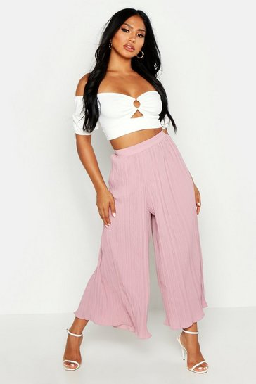 Rose High Waist Pleated Wide Leg Culottes