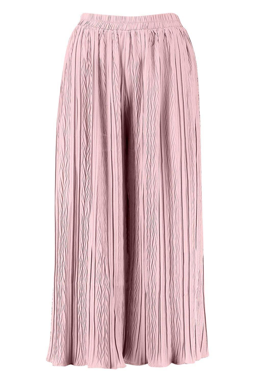 Culottes Pleated Wide Pleated rose Leg Leg Pleated Culottes Leg rose Wide Wide qTWOWCwv
