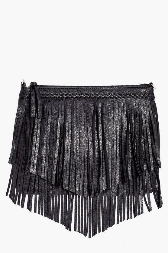Maisy Plait And Fringed Cross Body Bag