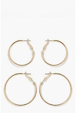 Gold Hoop 2 Pack