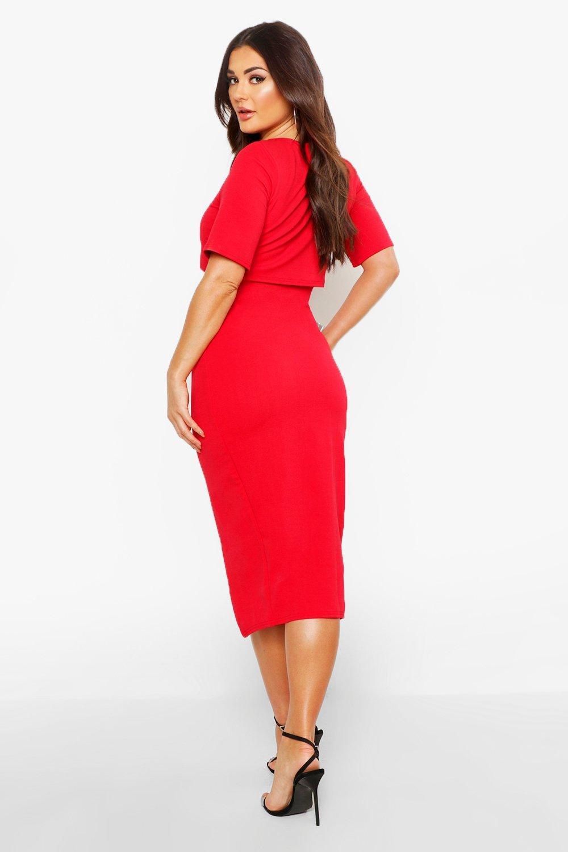 Boohoo vestido midi fluido cruzado en capas sadiya para Mujer | eBay